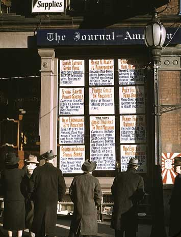 Snapshots: Outside The Journal-American (1940)