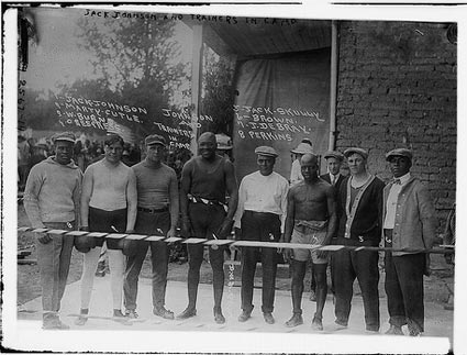 Snapshots: Jack Johnson in Training Camp, 1911