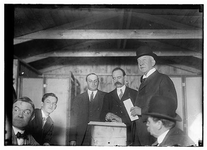 Snapshots: Acting Mayor Larchmont Votes, 1914